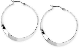 Robert Lee Morris Soho Silver-Tone Sculptural Hoop Earrings