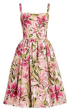 Dolce & Gabbana Women's Lily Print Organza Dress