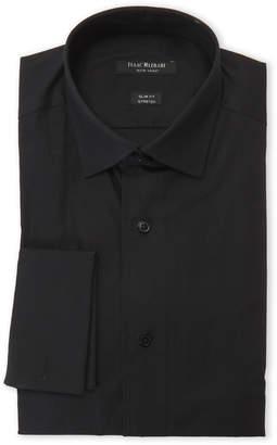 Isaac Mizrahi Black Slim Fit Stretch Dress Shirt