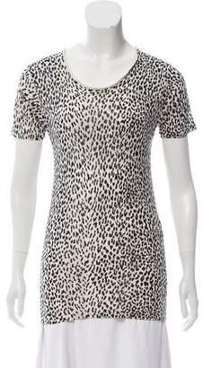 Saint Laurent Animal Print Short Sleeve T-Shirt