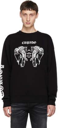 Marcelo Burlon County of Milan Black Cupido Tattoo Sweatshirt