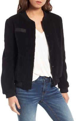 Women's Levi's Faux Shearling Bomber Jacket $150 thestylecure.com