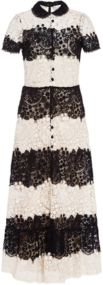 Red Valentino Short Sleeve Lace Dress $1,650 thestylecure.com