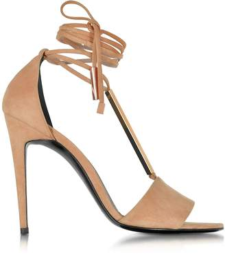 Pierre Hardy Blondie Nude Suede High Heel Sandals