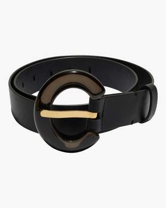 Lizzie Fortunato Black Lucite Sofia Belt