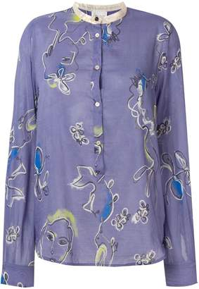 Forte Forte abstract floral print shirt