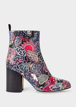 Paul Smith Women's 'Oriental Floral' Leather 'Egan' Boots