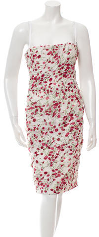 Dolce & GabbanaDolce & Gabbana Printed Strapless Dress w/ Tags