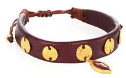 Chan Luu Garnet& Leather Bracelet