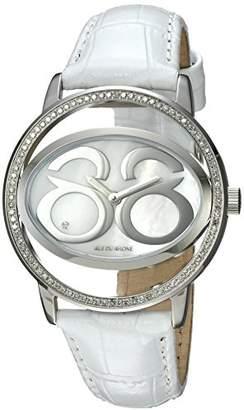 88 Rue du Rhone Women's 'Double 8 Origin' Swiss Quartz Stainless Steel and Leather Dress Watch
