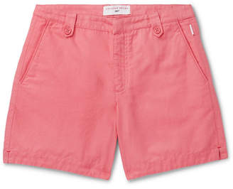 Orlebar Brown + 007 Thunderball Cotton And Linen-Blend Shorts