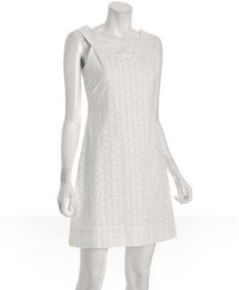 Shoshanna white daisy eyelet cotton dress