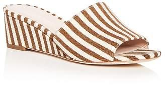 Loeffler Randall Women's Tilly Striped Wedge Slide Sandals