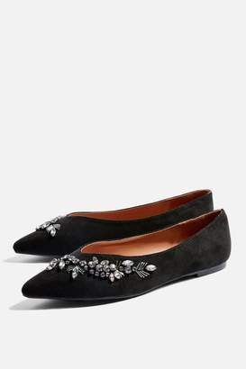 Topshop SWEETHEART Embroidered Slippers