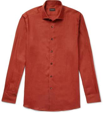 Ermenegildo Zegna Linen Shirt - Men - Brick