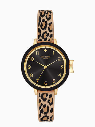 Kate Spade Park row leopard-print silicone watch