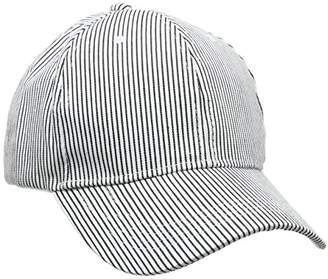 Mens Curve Peak Baseball Cap, White (White Pattern), One Size (Manufacturer Size: 99) New Look