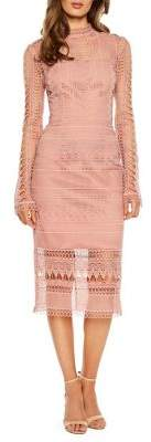 Bardot Mariana Lace Midi Dress