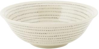 Nkuku Bria Ceramic Bowl - Grey Dots