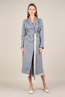 Current Air Gingham Trench Coat