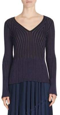 Kenzo Pleated V-Neck Sweater