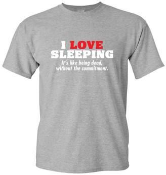 9debd9da Feelin Good Tees I Love Sleeping It's Like Being Dead Gag Gift Novelty Funny  Mens T