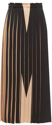 MM6 MAISON MARGIELA M Pleated Maxi Skirt - Womens - Nude