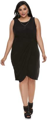 JLO by Jennifer Lopez Plus Size Twist Drape Dress