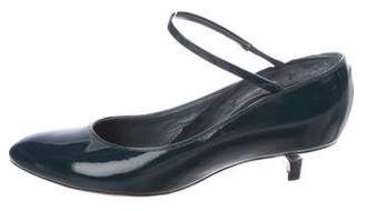 Marc Jacobs Patent Leather Round-Toe Mules