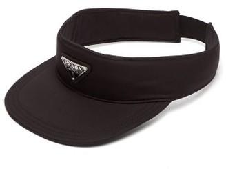Prada Logo Appliqued Nylon Visor - Mens - Black