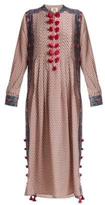 Figue Rumi Floral Print Silk Kaftan - Womens - Pink Multi