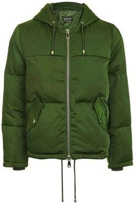 Topshop Short Hooded Puffer Jacket
