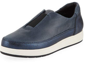Donald J Pliner Meda Stretch Leather Sneakers