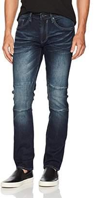 Buffalo David Bitton Men's Ash-x Slim Fit Medium Contrasted Wash Stretch Denim Pant