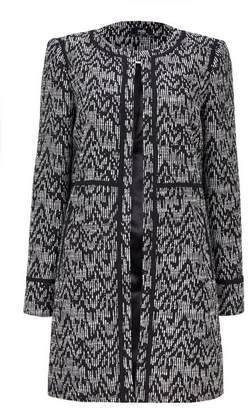 Wallis Monochrome Textured Jacquard Coat