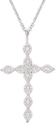 Jamie Wolf 18k Marquise Diamond Cross Necklace