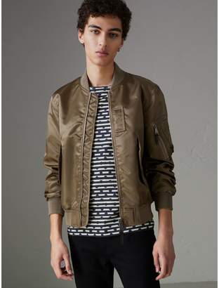 Burberry Satin Bomber Jacket