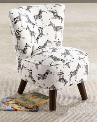 Kids' Oriana Zebra-Print Chair