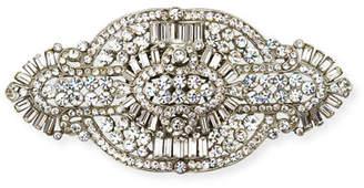 Jose & Maria Barrera Clear Crystal Brooch