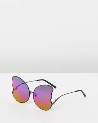 Matthew Williamson Butterfly Frame Sunglasses
