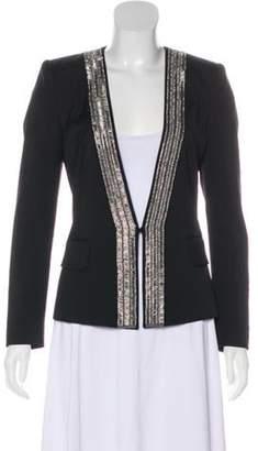 Barbara Bui Wool Embellished Jacket silver Wool Embellished Jacket