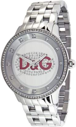 Dolce & Gabbana Women's DW0144 Stainless-Steel Quartz Watch with White Dial