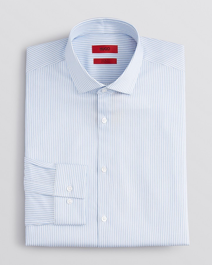 HUGO BOSS HUGO EastonX Multi Stripe Dress Shirt - Slim Fit