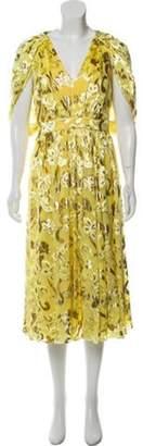 Prabal Gurung Sleeveless Maxi Dress Yellow Sleeveless Maxi Dress
