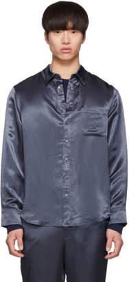 Sies Marjan Blue Washed Satin Sander Shirt