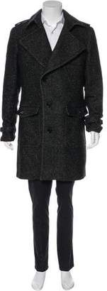 Burberry Virgin Wool-Blend Asymmetrical Coat