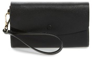 Women's Halogen Leather Wristlet - Black