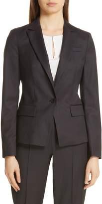 BOSS Jalissa Pepita Wool Suit Jacket