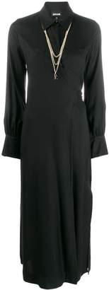 Just Cavalli wrap front shirt dress