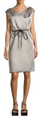 Marc Jacobs Belted V-Neck Dress